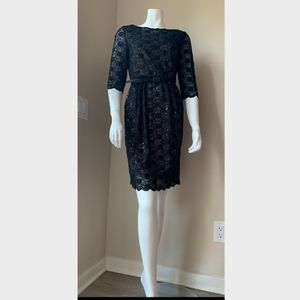 Alex Evenings Petites Black Lace Dress